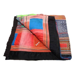 Multi Colored Striped Hmong Blanket