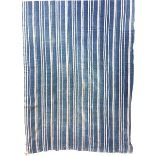 Faded African Indigo Stripe Textile