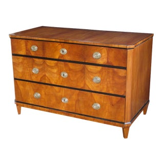 Handsome Austrian Biedermeier Cherrywood Three-Drawer Chest