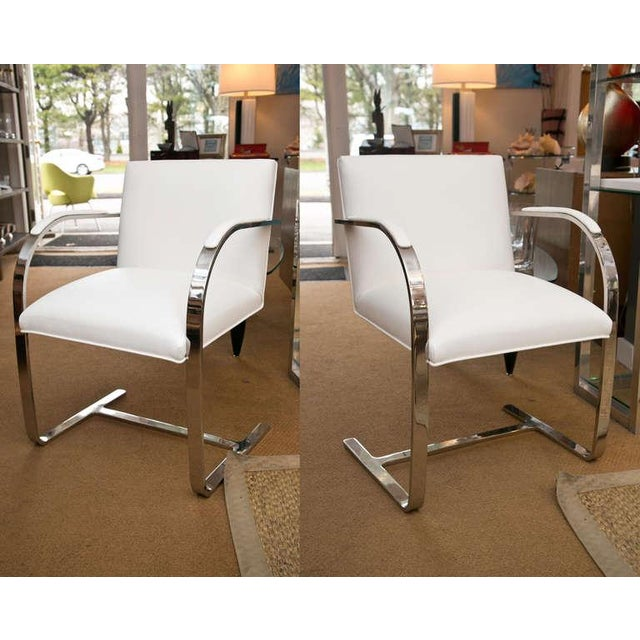 Set of Faux Leather Brno Chairs - Image 8 of 10