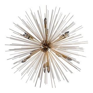 Monumental Brass Sputnik or Urchin Chandelier