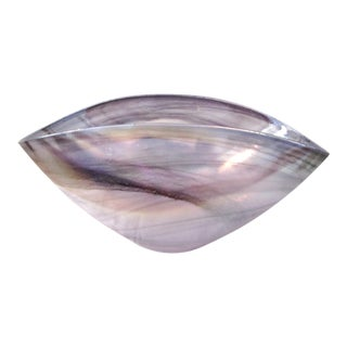 Iridescent Lavender Art Glass Bowl