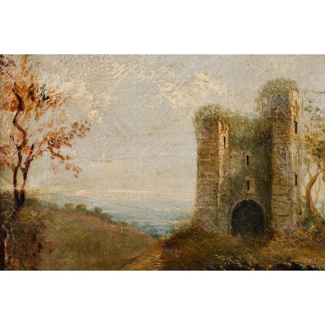 18th-C. Castle Ruins Oil Painting - Image 6 of 9