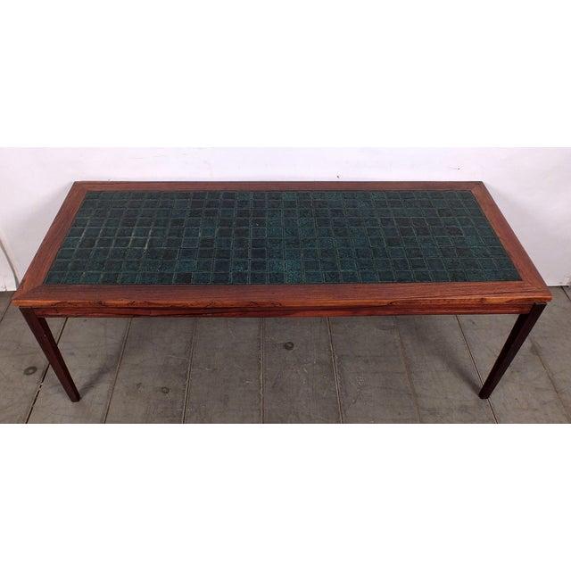 Mid Century Ceramic Tile Top Coffee Table Chairish