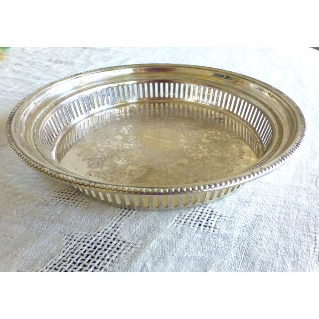 Vintage Towle Silverplate Bar Tray - Image 3 of 6