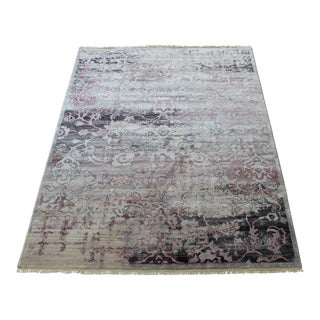Red Patterned Abstract Rug - 5′3″ × 7′7″