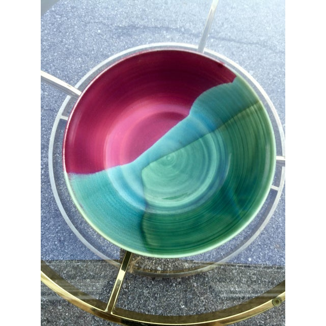 Image of Large Jewel-Tone Glazed Bowl