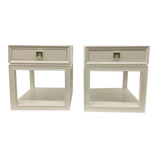 Somerset Bay Malibu Loft White & Brass Side Tables - A Pair