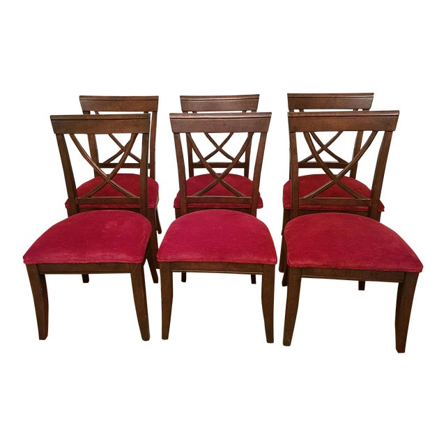 Drexel Heritage X Side Chairs - Set of 6 - Image 1 of 4