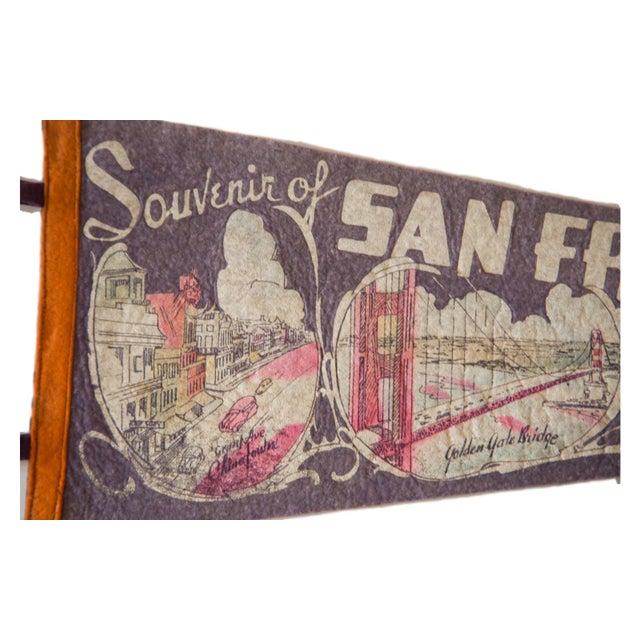 Vintage 1940s San Francisco Felt Flag - Image 2 of 4