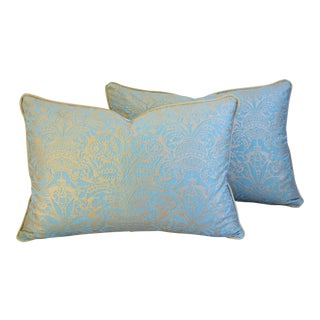 Italian Mariano Fortuny Campanelle Feather/Down Pillows - Pair