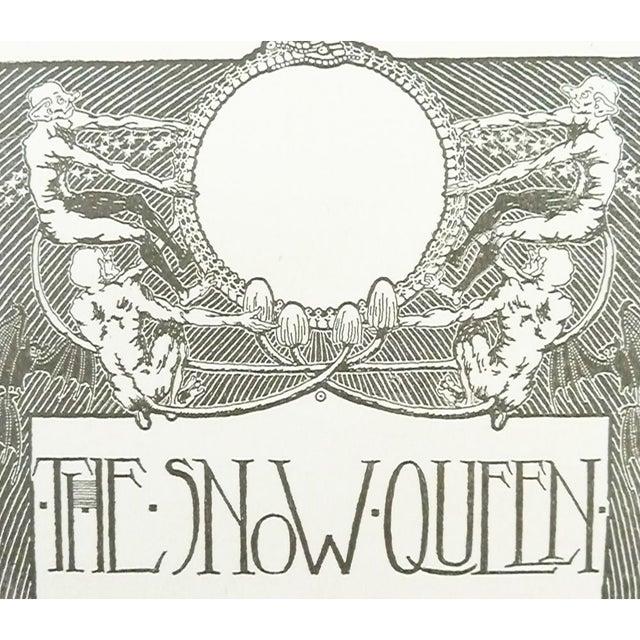 """The Snow Queen"" Art Nouveau Lithograph - Image 2 of 2"
