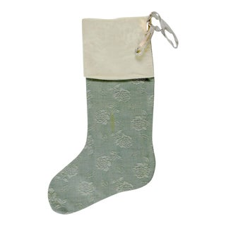 Vintage Velvet Damask Christmas Stocking
