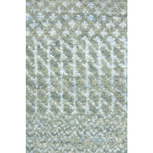 "Tonal Striped Hand Knotted Area Rug - 9'1"" X 12'3"" - Image 4 of 4"
