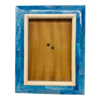 Ocean Blue Resin Wood Photo Frame, India