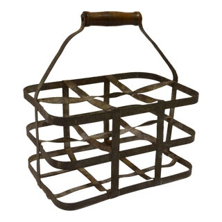 Vintage French Bottle Carrier