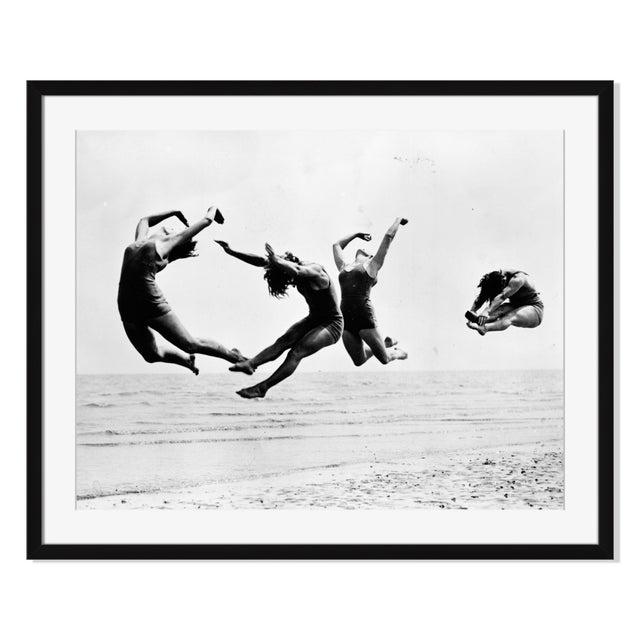 """Image of """"Beach Exercise"""" Framed Photography by Reg Speller"""