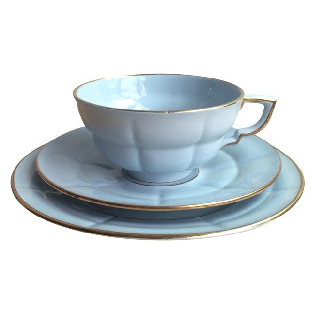 3-Piece Upsala Ekeby Cup & Saucer Set - Image 1 of 8