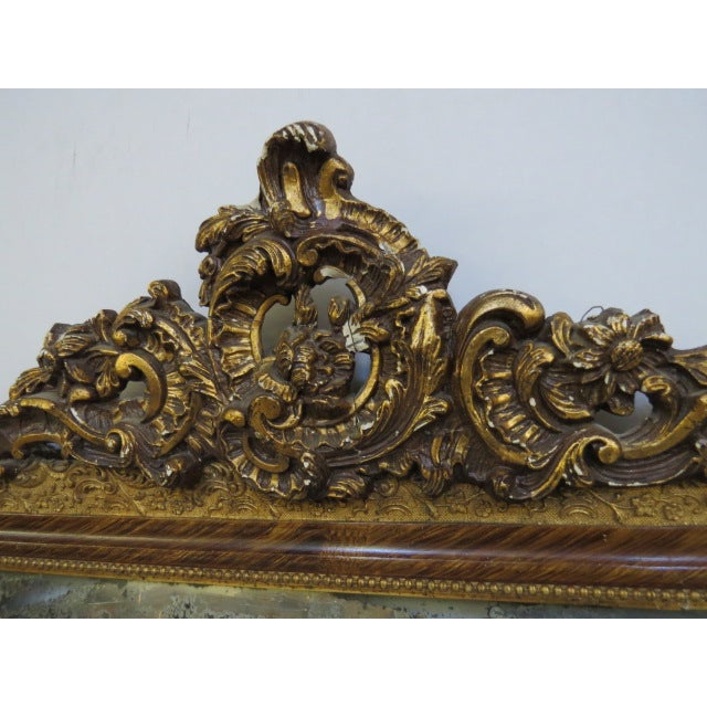 Antique Gilded Mirror - Image 3 of 7