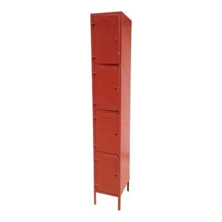 Vintage Red Steel Locker