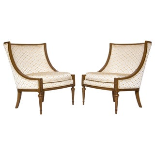 Slipper Chairs by Hibriten, A Pair