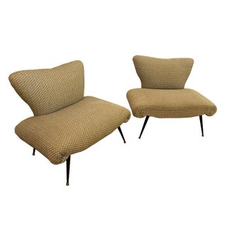 Mid-Century Italian Lounge Chairs - A Pair