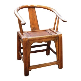 Country Style Curved Bowback Elm Armchair