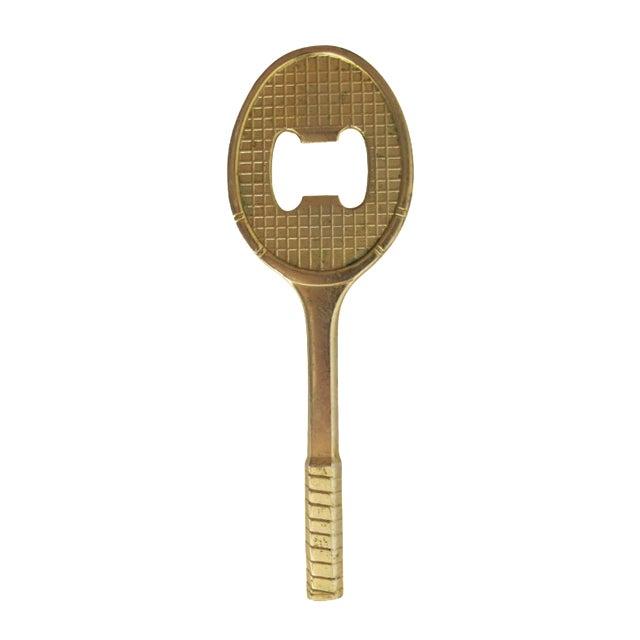 Image of Brass Tennis Racket Bottle Opener