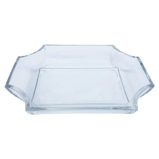 Art Deco Style Glass Rectangular Tray