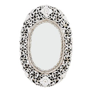 Transitional Oval Handcut Glass Mirror