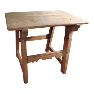 European Aged Pine Accent Table