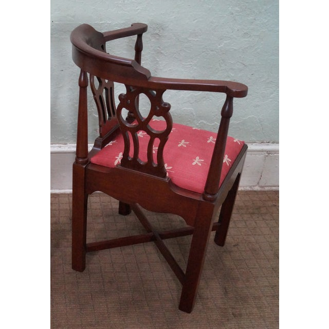 Quality Mahogany Chippendale Corner Arm Chair - Image 5 of 10