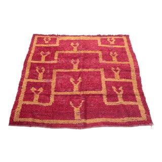 Antique Turkish Konya Carpet - 4′11″ × 5′3″