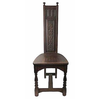 Antique Hand-Carved Monastery Chair