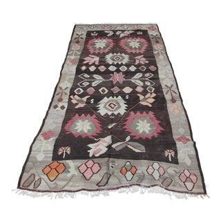 Turkish Kilim Rug - 5′6″ × 11′7″