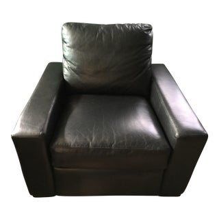 Restoration Hardware Black Leather Maxwell Recliner
