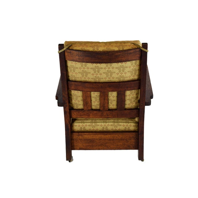 1903 Stickley Brothers Oak Armchair - Image 4 of 4