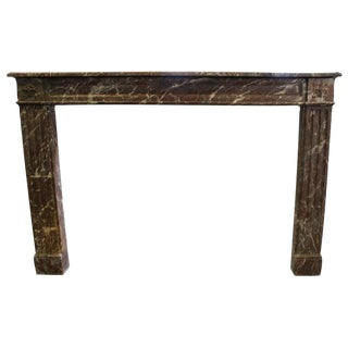 19th Century French Louis XVI Style Marble Mantel