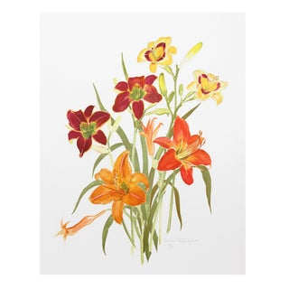Marion Sheehan - Day Lilies Lithograph
