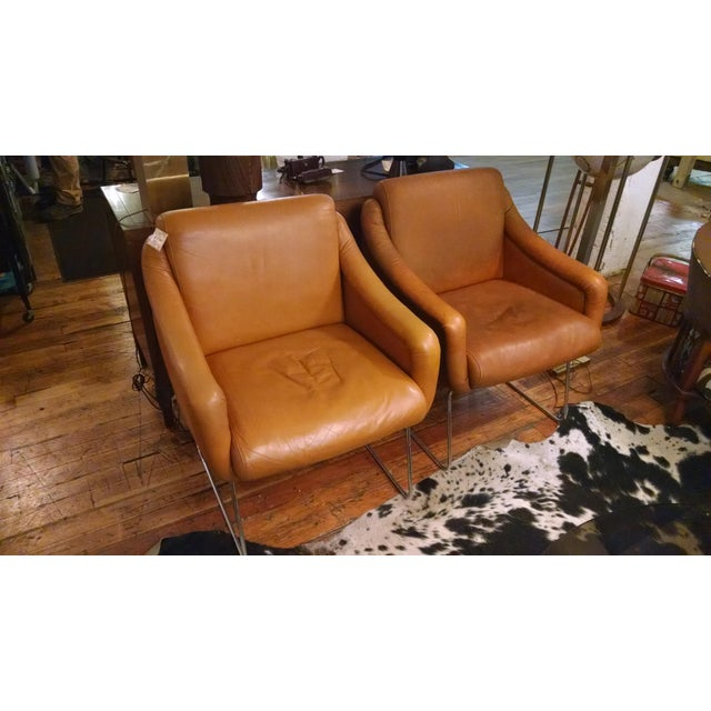 Mid Century Modern Vecta Leather Chairs A Pair Chairish