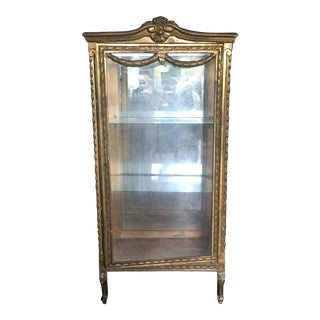 Gilded Antique Glass Vitrine