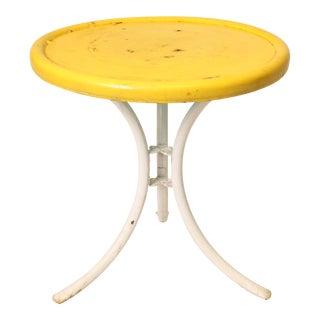 Mid-Century Metal Patio Side Table