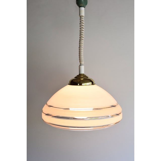 Vintage Mid Century Rolly Retractable Pendant Lamp Chairish