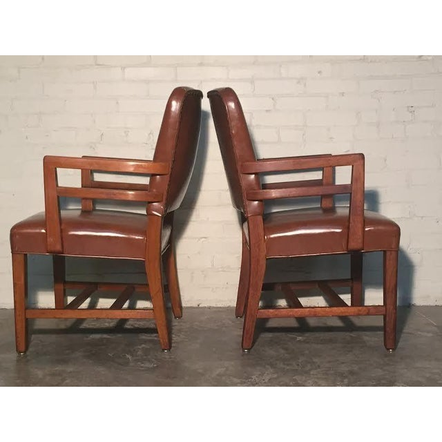 Mid-Century Office Chairs W/Nailhead Back - A Pair - Image 6 of 10