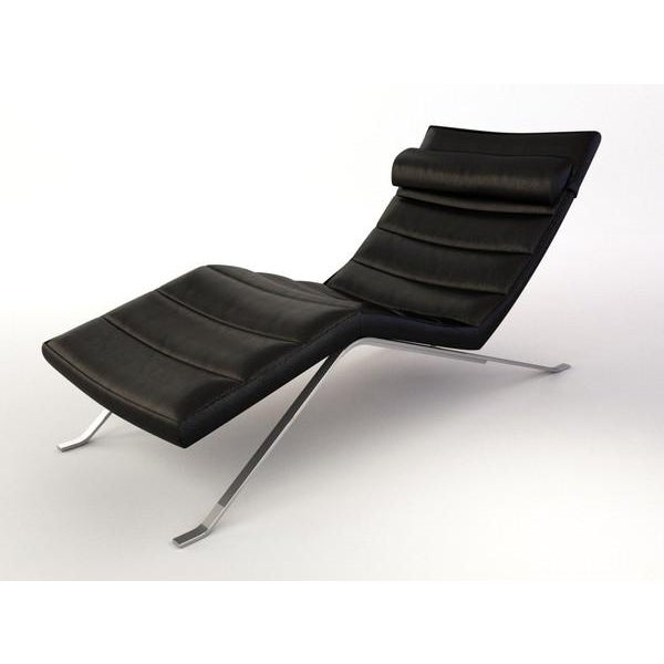 Image of BoConcept Black Leather Pavia Chaise