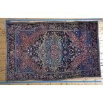 "Image of Royal Blue Farahan Sarouk Rug - 4'3.5"" x 6'8"""