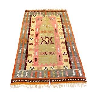 Turkish Handmade Anatolian Kilim Rug - 4′ × 6′1″