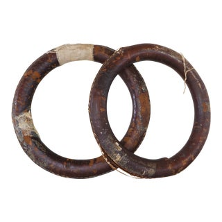 Leather Gymnast Rings - a Pair