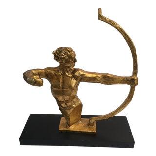 Mid-Century Gold Male Sculpture