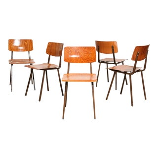 Dutch Vintage School Chairs - Set of 5